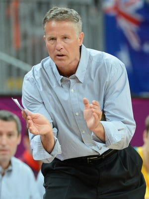 Brett Brown coached Team Australia to a seventh-place finish at the London Olympics.