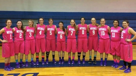 The Mitchell girls basketball team.