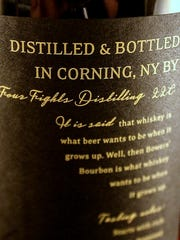 Four Fights Distilling of Corning recently received design awards for two of its brand labels.