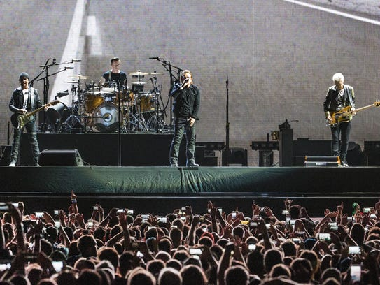 Adam Clayton, Bono, Larry Mullen, Jr. and The Edge