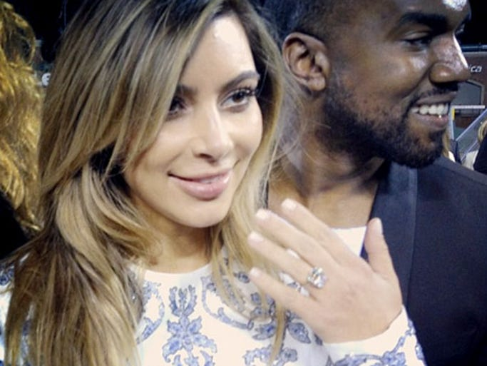 Kim Kardashian and Kanye West wore big smiles on the night of Oct. 21, 2013 after he got down on one knee and proposed at AT&T Park in San Francisco. Will the third time be a charm for Kim? USA TODAY's Ann Oldenburg takes a look back at mom Kris Jenner, daughters Kim, Khloe and Kourtney and their love lives.