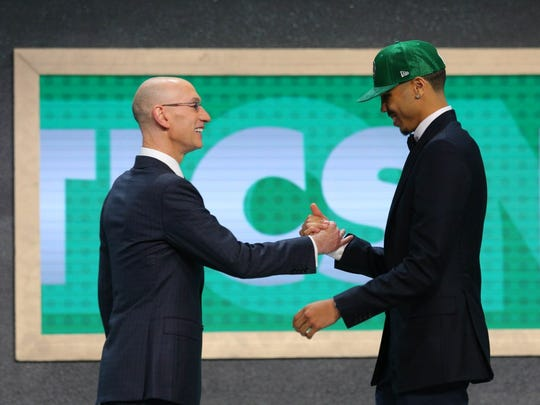 Jayson Tatum, right