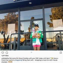 Girl Scout reportedly sells 300 boxes of cookies outside of California pot shop