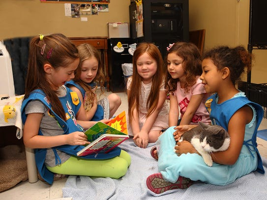 The Girl Scouts made a very special visit to the Ramapo-Bergen