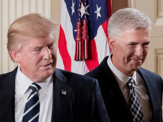 President Trump and Supreme Court nominee Neil Gorsuch