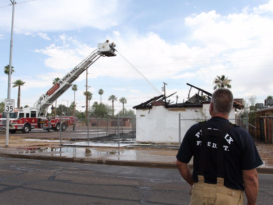 The Phoenix Fire Department responded to a fire in