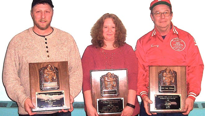 Pictured, from left, are  Scott Rohrbaugh, Judy Cutright and Rich (Lenny) Heilman.