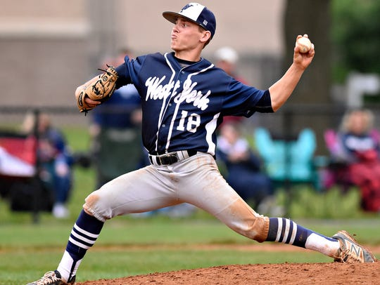 West York's Zach Gettys pitches against Kennard-Dale