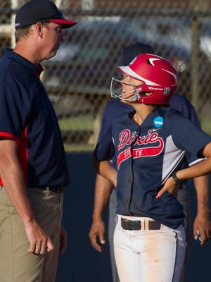 Dixie State softball defeats Chaminade University 16-4 Wednesday, March 23, 2016.