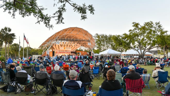 Hundreds of Blues lovers blanketed the lawn during the Bonita Blues Festival held at Riverside Park in Bonita Springs, Friday March 9.