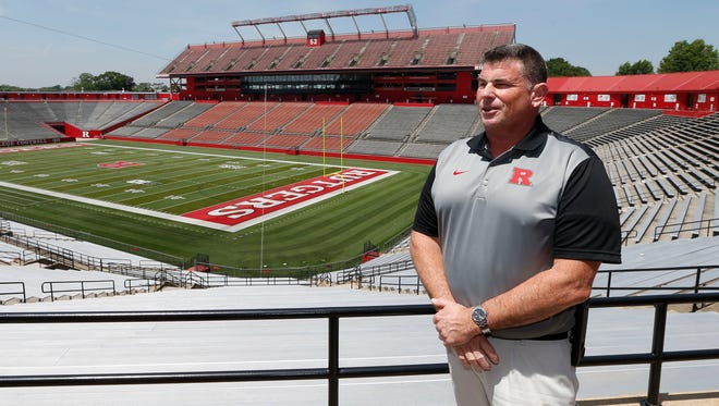 Rick Mantz, Director of High School Relations for Rutgers football, loves the fact he is selling his alma mater far and wide.