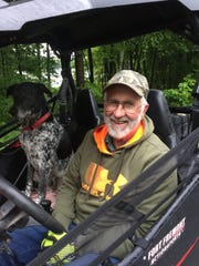 Yogi Antoniewicz along with his dog, Jaeger, enjoys riding on the designated roadway routes in Langlade County in his utility terrain vehicle. But Antoniewicz worries about the safety of young drivers of off-road machines mixing with larger, heavier vehicles.