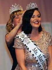 Sabrina Cranmer crowns Paige Filliater, Miss Marion Popcorn Festival 2015