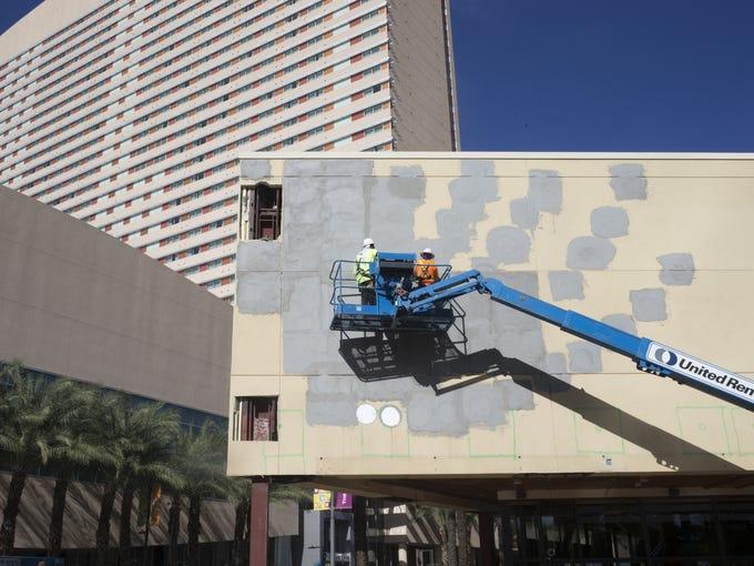 Construction continues, Nov. 10, 2017, at the Arizona