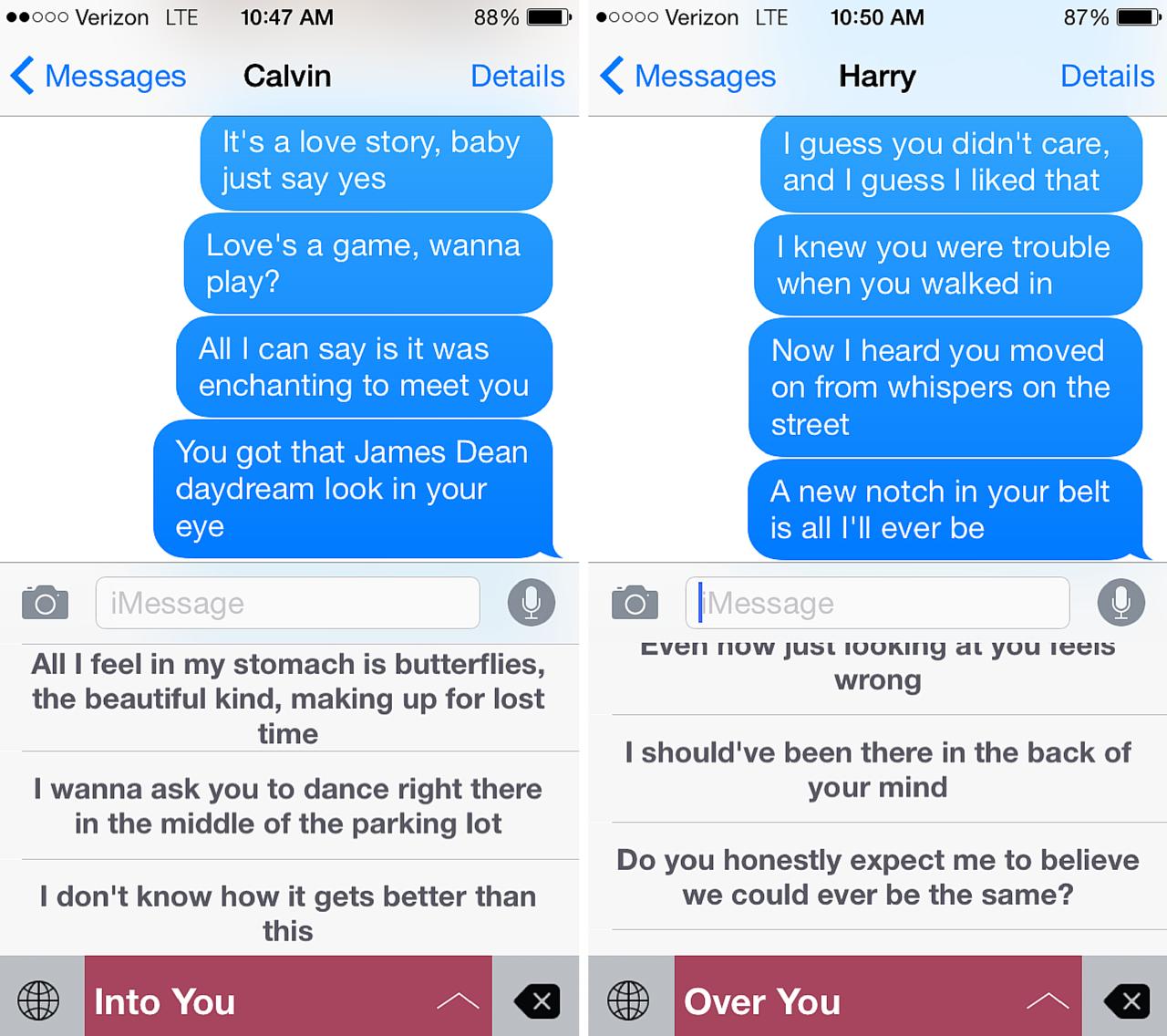 flirting moves that work through text lyrics video game free