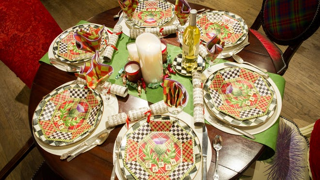 These holiday table setting items are from Parkleigh on park Ave.