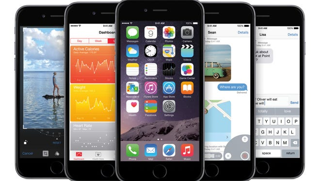 Apple's new iPhones with iOS 8.