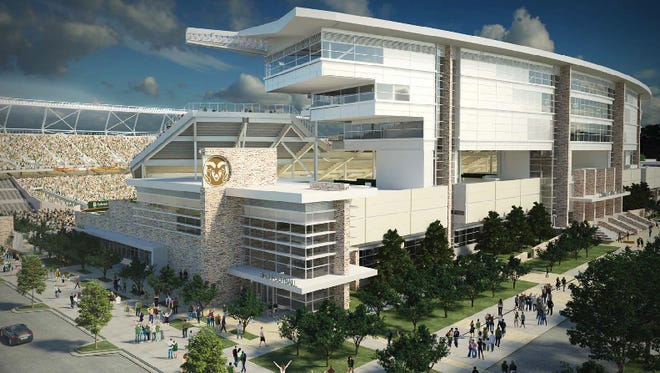 An artist's rendering of CSU's on-campus stadium.