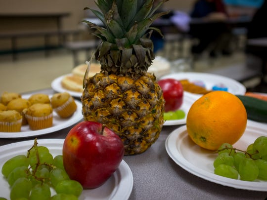 Examples of healthy food were presented at Mesilla