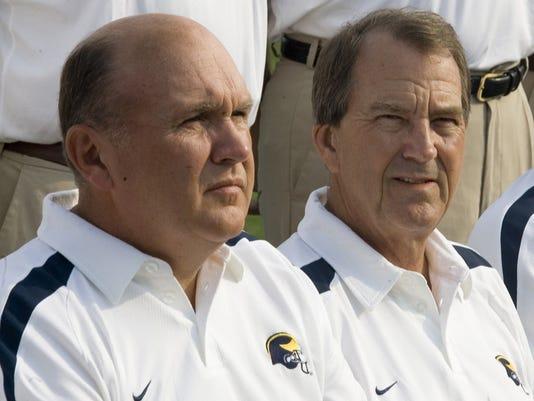 Lloyd Carr, Mike DeBord, Ron English