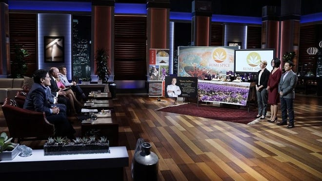 """The co-founders of Rumi Spice, including Evansville native Emily Miller, appear on the reality TV show """"Shark Tank"""" on May 5."""