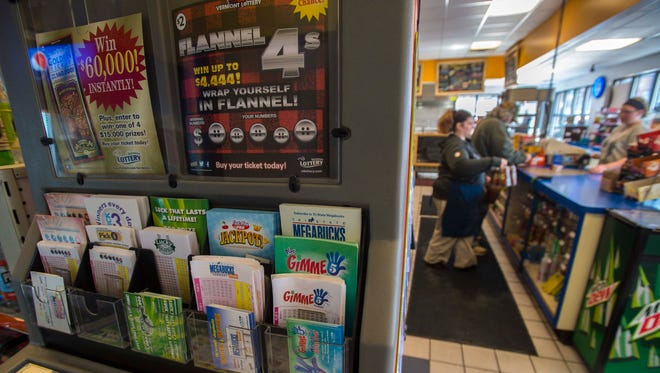 Gov. Phil Scott has proposed the combination of two departments into a Department of Liquor and Lottery. Seen here, lottery tickets for sale at Waggy's Store and Deli in Burlington on Thursday, January 21, 2016.