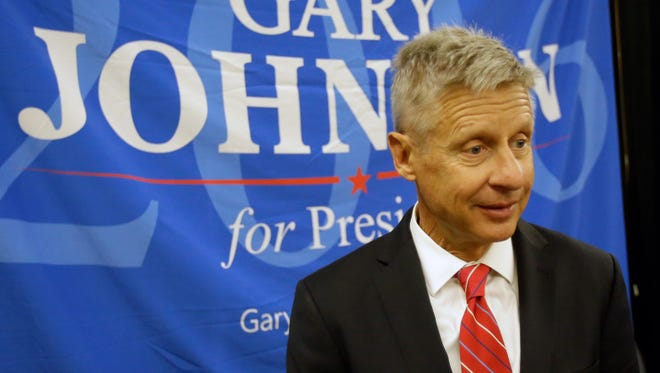 Libertarian presidential candidate Gary Johnson in Orlando on May 29, 2016.