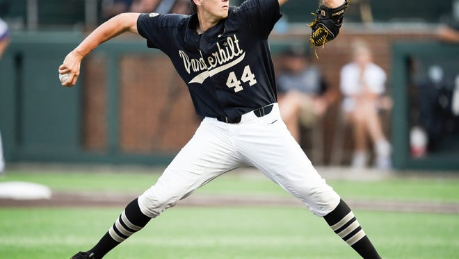 Vanderbilt pitcher Kyle Wright posted a 5-6 record and 3.40 ERA this season.