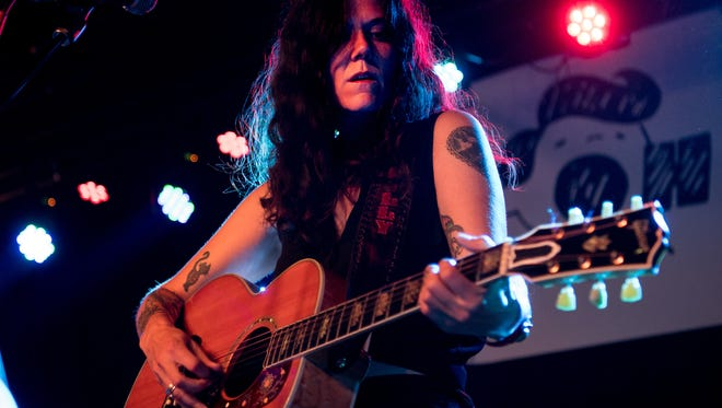 "Lilly Hiatt performs during the ""The Songs of John Prine"" tribute concert at The Basement East in Nashville, Tenn., Thursday, July 27, 2017."
