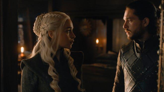 The alliance between Daenerys Targaryen (Emilia Clarke) and Jon Snow (Kit Harington) became infinitely more complicated in Sunday's record-setting season finale of the HBO drama.