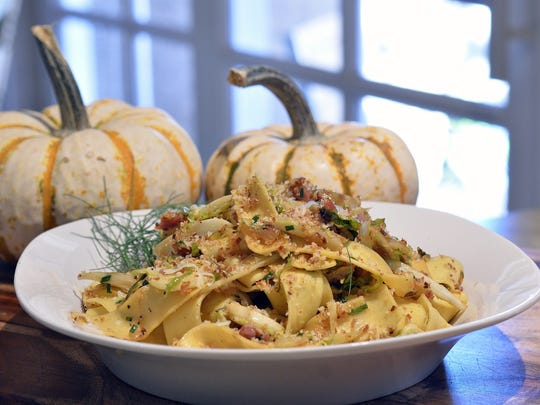 Pappardelle with Brussels Sprouts, Fennel and Prosciutto