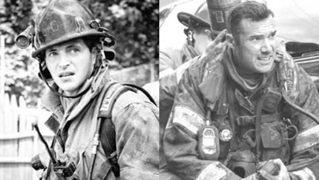York City firefighters Ivan Flanscha, 50, of Red Lion, left, and Zachary Anthony, 29, of York, died in a building collapse March 22.