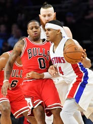 Forward Tobias Harris has been the Pistons' most consistent