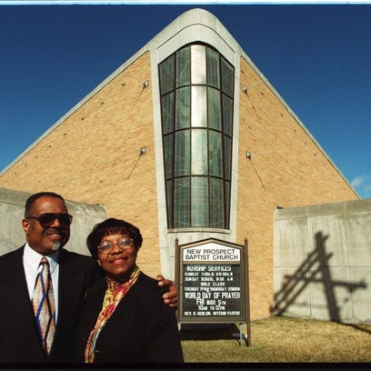 Dr Charles Adams and Rev. Wilma R. Johnson  at New