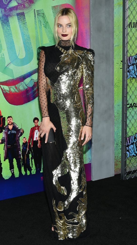 Margot Robbie Jared Leto Power Up At Suicide Squad Premiere