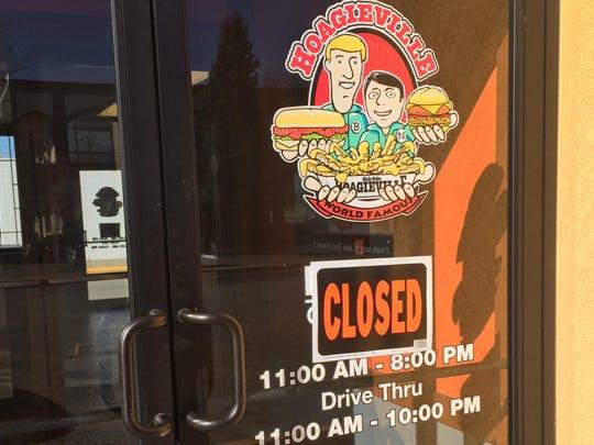 Hoagieville in Great Falls has closed.