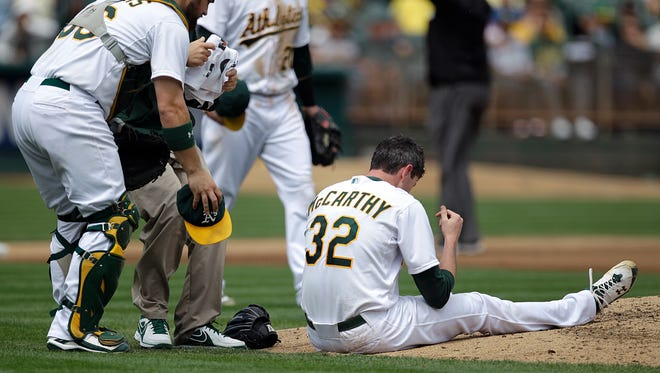 In 2012, Brandon McCarthy was seriously injured when he was hit in the head by a line drive.