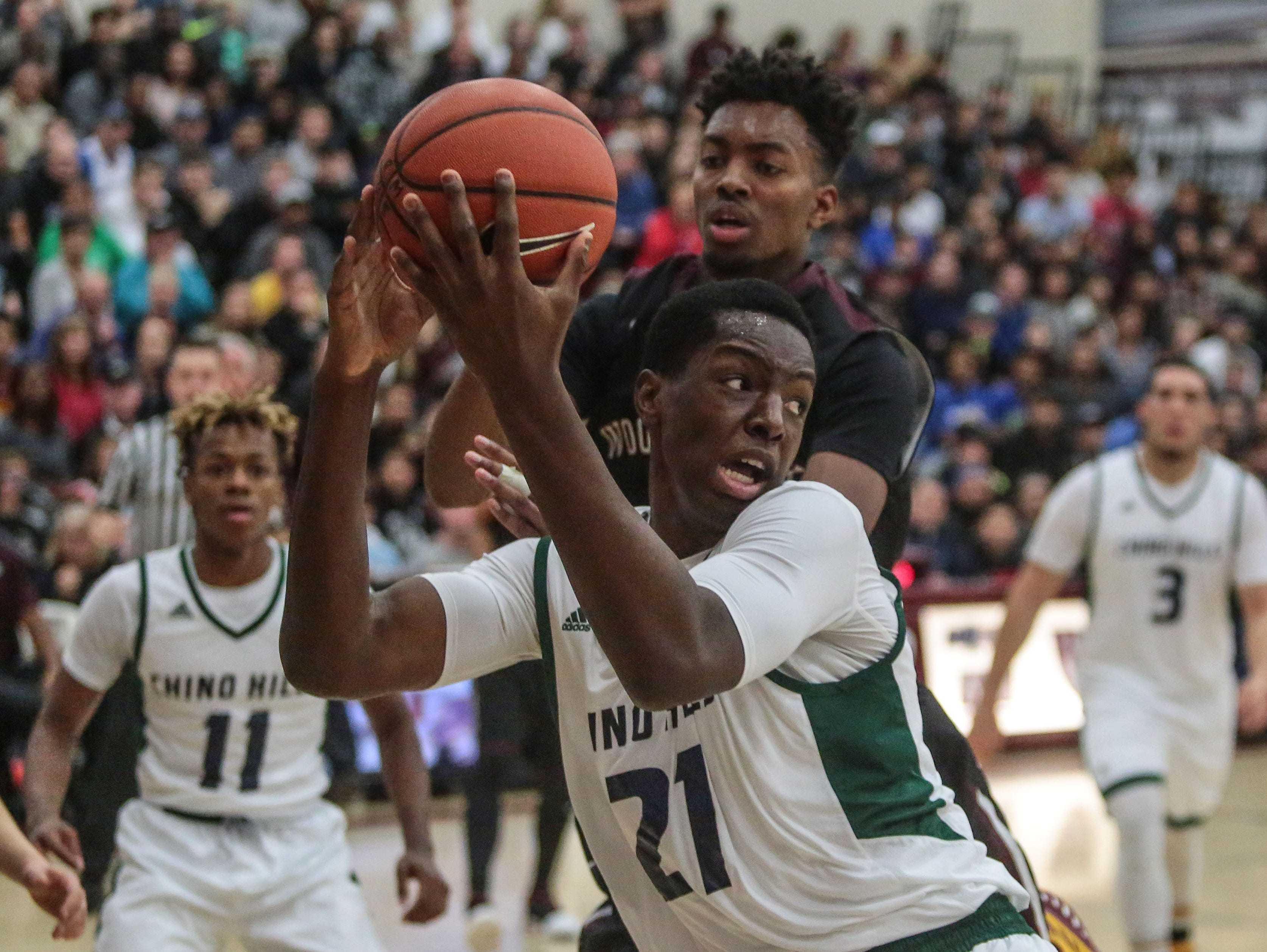 Chino Hills and Woodcreek basketball action on Wednesday, December 28, 2016 during the Rancho Mirage Holiday Invitational at Rancho Mirage High School.