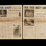 A collection of historic headlines and famous front pages in the Capital Journal and The Oregon Statesman.