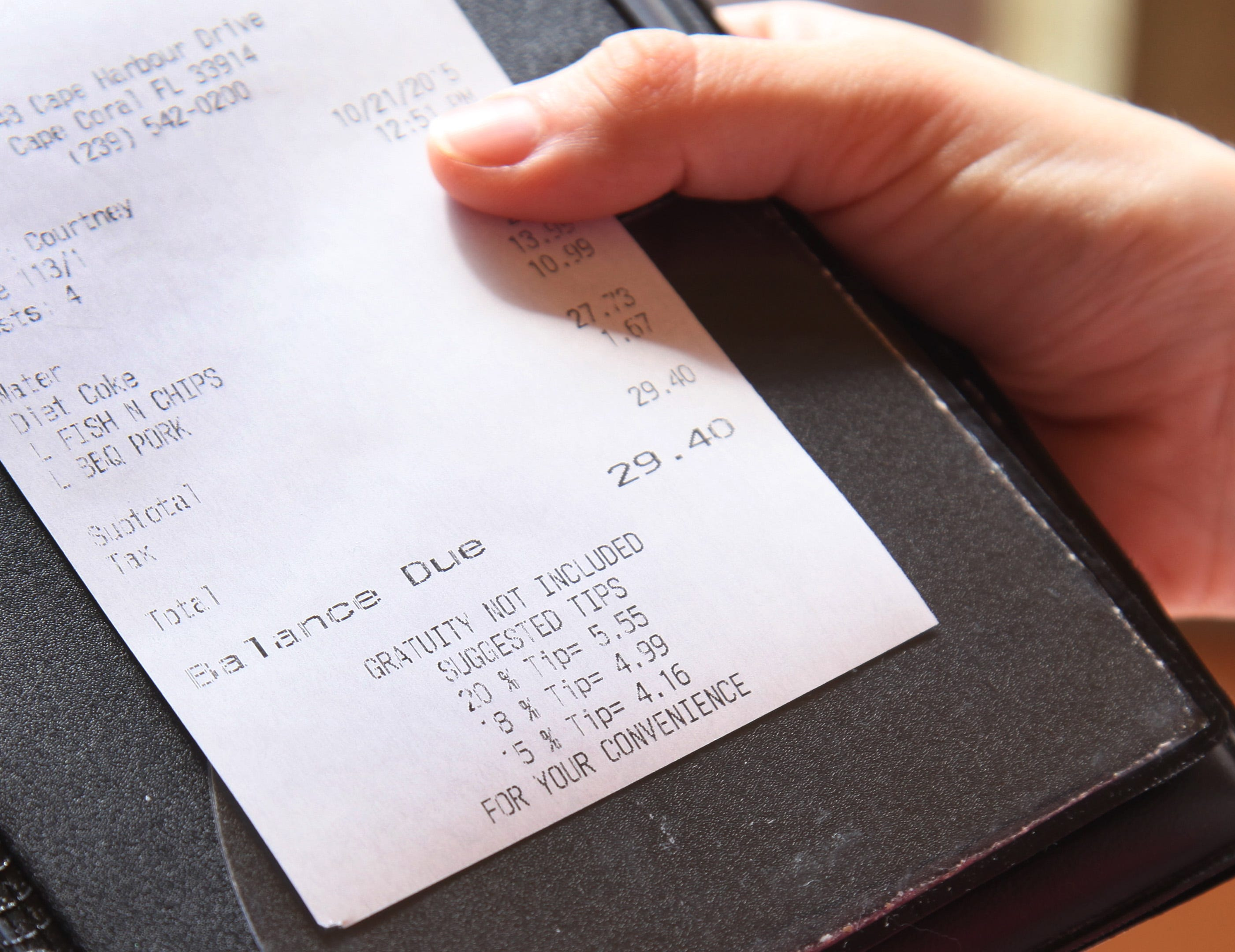 The busboy earns his tip