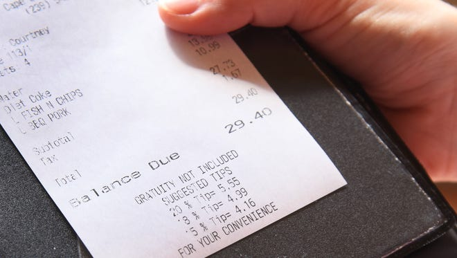 Rumrunners in Cape Coral, along with many other restaurants, provide a tip chart to help customers calculate tips.