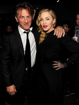 Sean Penn and Madonna attend Madonna and Steven Klein 'secretprojectrevolution' at the Gagosian Gallery on Sept. 24, 2013 in New York City.