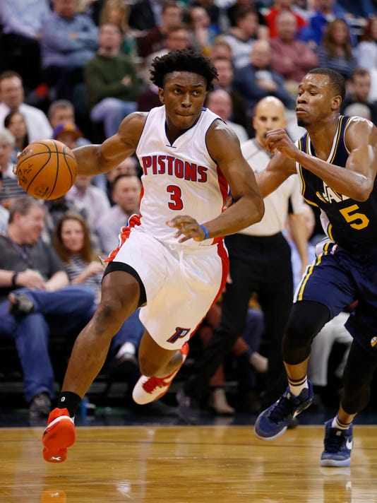 NBA: Detroit Pistons at Utah Jazz