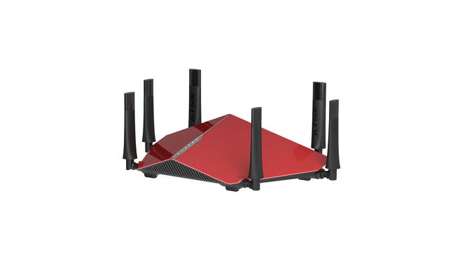The D-Link Wireless AC3200 Tri-Band Gigabit Router. Fixing slow Wi-Fi can include investing in a new router or updating firmware.