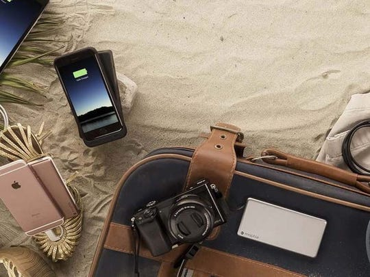Portable battery packs like these Mophie models are