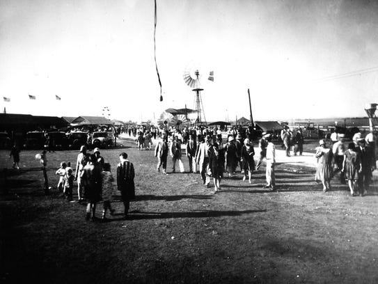 Rodeo crowd at the San Angelo Fairgrounds.