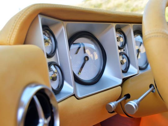 The speedometer's only number is 71, in honor of the model year.