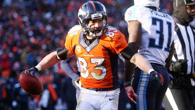 WR Wes Welker will miss his first game as a Bronco on Thursday.