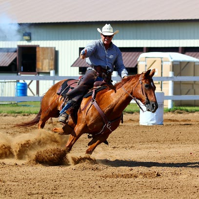 Mounted shooters aim to please at Eau Claire County fair