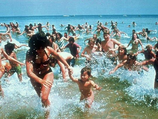 """Jaws"" terrified moviegoers, and beachgoers, in 1975."